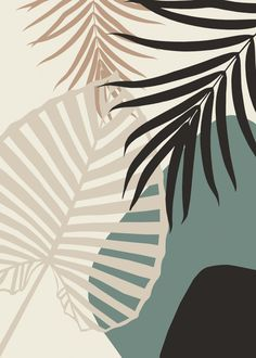 'Minimal Tropical Palm Leaf Finesse ' iPad Case/Skin by anitabellajantz Aesthetic Iphone Wallpaper, Aesthetic Wallpapers, Nature Posters, Abstract Line Art, Cute Patterns Wallpaper, Fashion Wall Art, Diy Canvas Art, Leaf Art, Painting Inspiration