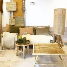 TineKhome Bamboo lounge table / pouf, 70x70xH32 cm Decor, House, Interior, Bamboo, Natural Interior, Table, Home Decor, House Dressing, Lounge