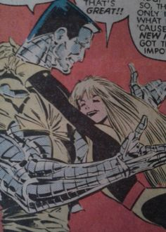 Colossus and his little sister, Illyana
