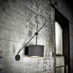 Edit Adjustable Wall Light - Black and Gold from Lighting Direct. Delivered direct to your door - Buy online today Direct Lighting, Home Lighting, Two Tone Walls, Industrial Wall Lights, Light Pull, Gold Interior, Steel Wall, Fashion Lighting, Incandescent Bulbs