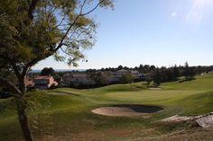 Golf Bonmont, trou n°14, vue du jardin de la villa Marigolf Golf Courses, Villa, Gardens, Spain, Fork, Villas