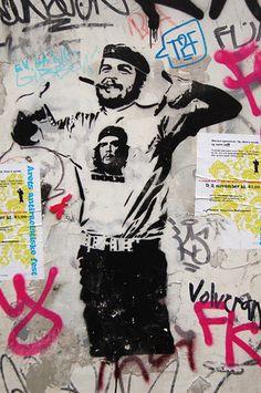 stencil art. #dolk - More #streetart at www.Streetart.nl