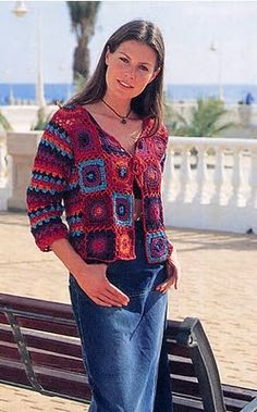 light jacket from granny squares