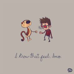 I know that feel, bro, Hobbes and Tyler Durden, by paperbeatsscissors