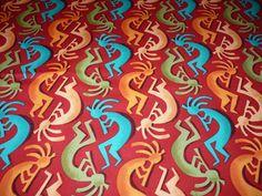 Designerstoffe USA - Michael Miller Kokopelli Stripe Aboridginis Ethno - ein Designerstück von Bibo-Laedchen bei DaWanda