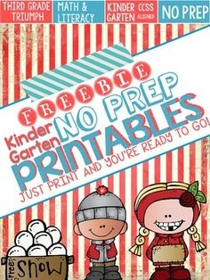 Are you a busy teacher? Do you need something quick that is fun, engaging, and aligned to the CCSS?  SAVE $$$ BUNDLE PACK. These winter no prep kindergarten math and literacy printables are an easy way to review key skills throughout the month and can be used for a variety of purposes: homework, sub plans, extra practice, independent work, etc...