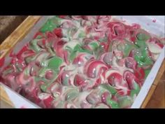 """Making & Cutting """"Sleigh Ride"""" Handmade Cold Process Soap ~ Petals Bath Boutique - YouTube"""