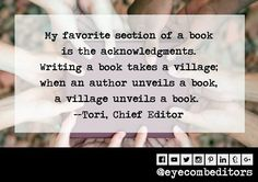 #writing #author #books #village #eyecombeditors #acknowledgments Writing A Book, Author, Eye, My Favorite Things, Instagram Posts, Books, Write A Book, Libros, Book