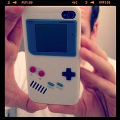Nintendo Game Boy Silicone Case for #iPhone.  currently $3.00 on Amazon and ships FO FREE.  This has stocking stuffer written all over it!  <3