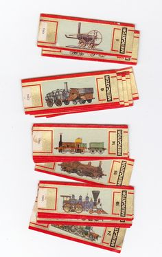 cigar bands set train locomotives - issued in 1974 - 2.5 euro