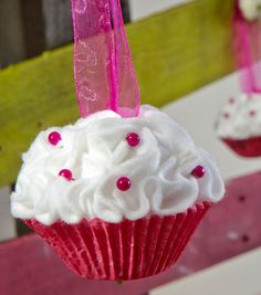 Easy Cupcake Ornament Tutorial. The possibilities are endless for this project.