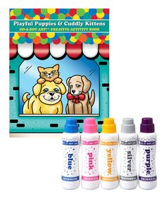 Love this Shimmer Do-A-Dot Marker & Puppies & Kitties Activity Book Set on #zulily! #zulilyfinds