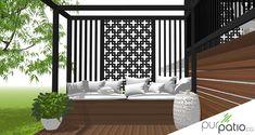 Outdoor Spaces, Terrasse Design, Deck Designs Backyard, Backyard Living, Outdoor Bed, Little House, Outdoor Decor, Outdoor Sectional Sofa, Outdoor Sofa