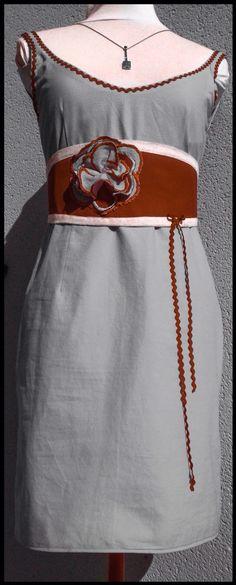 Robe droite et son obi personnalisable à souhait... Sur commande 170€