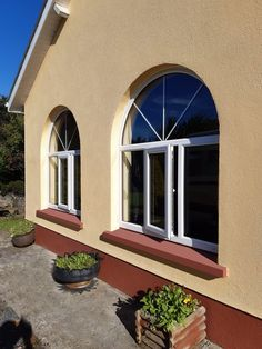 uPVC Windows - Get a Free Online Quotation - View Latest Promotions Arch Windows, Upvc Windows, Composite Door, Townhouse, Bespoke, Quote, Outdoor Decor, Beautiful, Bow Windows
