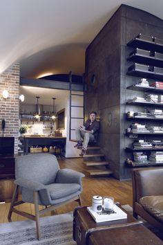 Loft avec un couchage en mezzanine