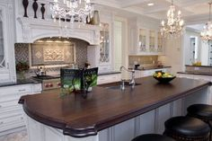 Wood Countertops/Tabletops - traditional - kitchen countertops - new york - by Brooks Custom