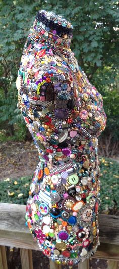 Original art mixed media assemblage on mannequin door ShellyObsessed
