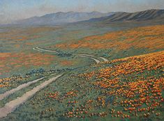 california poppy California Poppy, Landscape Paintings, Poppies, Mountains, Nature, Travel, Voyage, Trips, Viajes
