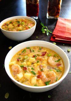 Creamy Instant Pot Chipotle Shrimp Soup P11 - Paint the Kitchen Red