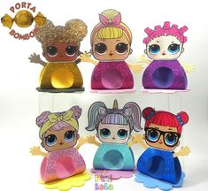 Porta bombom luxo LOL Surprise Birthday Favors, Unicorn Birthday Parties, Unicorn Party, Lol Doll Cake, Party Sweets, Doll Party, Baby Alive, Lol Dolls, Spiderman
