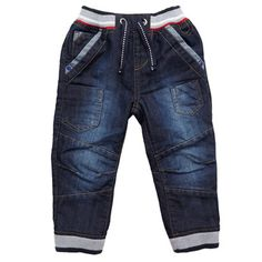 Toddler Ribbed Cuff Denim Jeans
