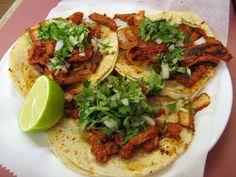 Platos Latinos, Blog de Recetas, Receta de Cocina Tipica, Comida Tipica, Postres Latinos: Tacos al Pastor - Recetas Mexicanas