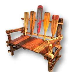 Reclaimed Wood Bench, Lake House Bench, Cabin Furniture, Paddle Furniture, Rustic Bench,