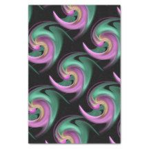 Abstract of Spring on black Tissue     Playful spring colors on black to adorn your gift bag.  Customization optional.  Artwork and design by Karlajkitty.