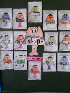 Alfabetizando - Iara Medeiros: O aniversário do Seu Alfabeto–parte 3 Baseball Cards, School, Graphing Activities, Kids Learning Activities, Alphabet Birthday, Kid Ink, Literatura, Lyrics