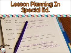 Lesson planning in special education can be challenging. Planning for a classroom with students in multiple grades with variety of needs and skill levels doesn't always fit neatly into a form. Here is an alternate way to plan.