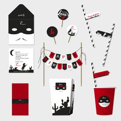 Pack Justicier masqué - Anniversaires/Les packs-Faites un carton