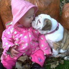 and my love of bulldogs, especially with little girls in pink polka dots!!!