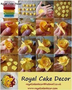 Fondant Roses | Royal Cakes Decor