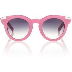 Vivetta Pink Acetate Round Sunglasses found on Polyvore