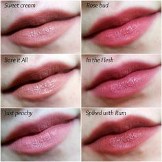 Lip swatches of the Wet n Wild megalast lipsticks nudes and neutral pinks
