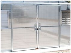 Double sliding doors are an attractive option for any greenhouse application. Talk to our greenhouse specialists to figure out which door is right for your project.