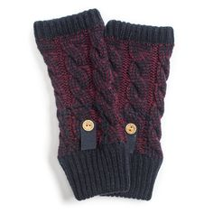 Muk Luks Women's Two-tone Cable Armwarmers
