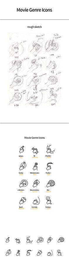 Movie genre icons / Movie pictogram on Behance