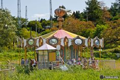 Takakanonuma greenland japan built in 1973 the parks first run abandoned merry go round is a tiny but beautiful abandoned sciox Choice Image