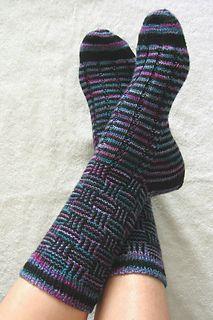 Ravelry: Caesar's Check pattern by Charlene Schurch Loom Knitting, Knitting Socks, Baby Knitting, Knitting Patterns, Crochet Patterns, Mosaic Patterns, Ravelry, Crochet Socks, Knit Or Crochet