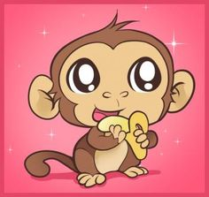 monkey crafts | How to Draw an Easy Monkey, Step by Step, forest animals, Animals ...