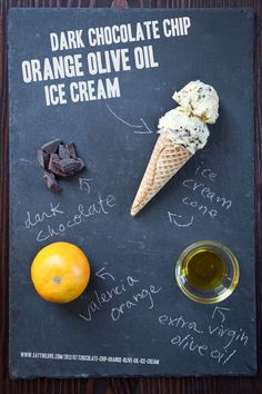 Dark Chocolate Chip Orange Olive Oil Ice Cream #Recipe. By Irvin Lin of Eat the Love. www.eatthelove.com