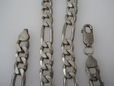 Sterling Silver 925 Mens Heavy Figaro Necklace 18.5in by Replays