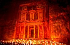 The Old City of Petra by Night. The Treasury - Al Khazneh. Jordan © Nora de Angelli / www.noraphoto by Nora De Angelli City Of Petra, Places Worth Visiting, Ancient Architecture, National Geographic Photos, Old City, Your Shot, Amazing Photography, In The Heights, Facade