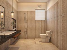 #ModernBathrooms 3D Design Idea by Team #AmerAdnanAssociates #InteriorDesign #Architect #AAA Bathroom Designs, Bathroom Interior Design, 3d Design, Modern Bathroom, Toilet, Bathtub, Standing Bath, Funky Bathroom, Flush Toilet