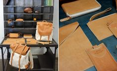 Prototypes of leather goods include, backpacks, wallets, bags, iPad and iPhone cases, belts and even a football.