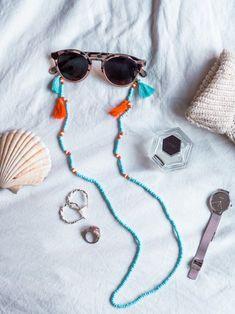 Hippie Accessories, Summer Accessories, Sunglasses Accessories, Fabric Jewelry, Beaded Jewelry, Beaded Necklace, Diy Leather Bracelet, Women Jewelry, Unique Jewelry