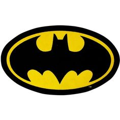 Batman Cave Rug ($15) ❤ liked on Polyvore featuring home, rugs, superhero rug, yellow area rug, yellow rug, black rug and machine washable rugs