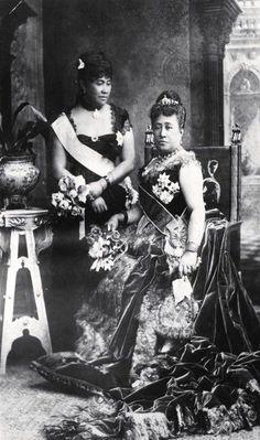 Queen Kapiolani and Crown Princess Liliuokalani of Hawaii
